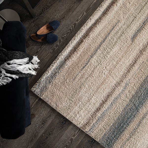 Blue, Ivory (7017) Contemporary / Modern Area Rug