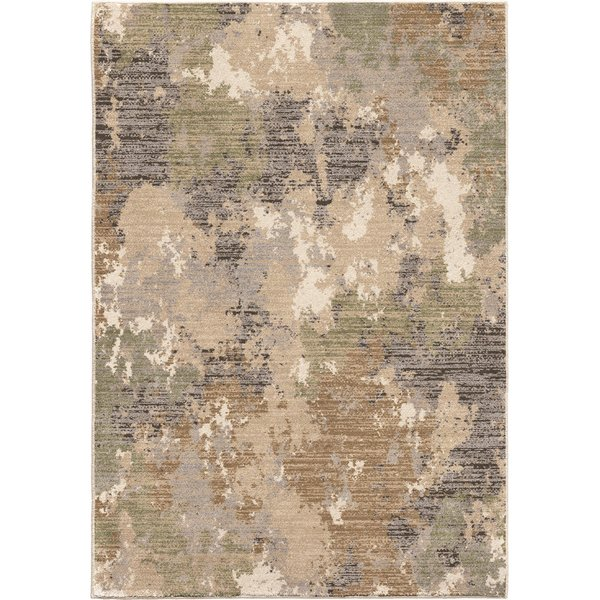 Brown, Grey, Ivory (9022) Abstract Area Rug