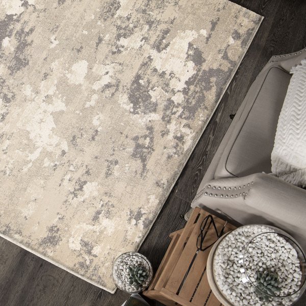Beige, Off White, Gray (9311) Contemporary / Modern Area Rug