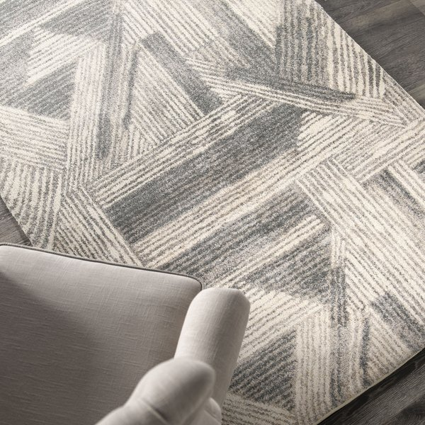 Off White, Beige, Gray (9209) Contemporary / Modern Area Rug