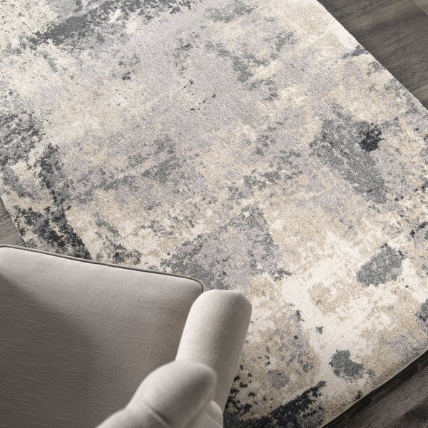 Gray, Beige, Off-White (9204) Contemporary / Modern Area Rug