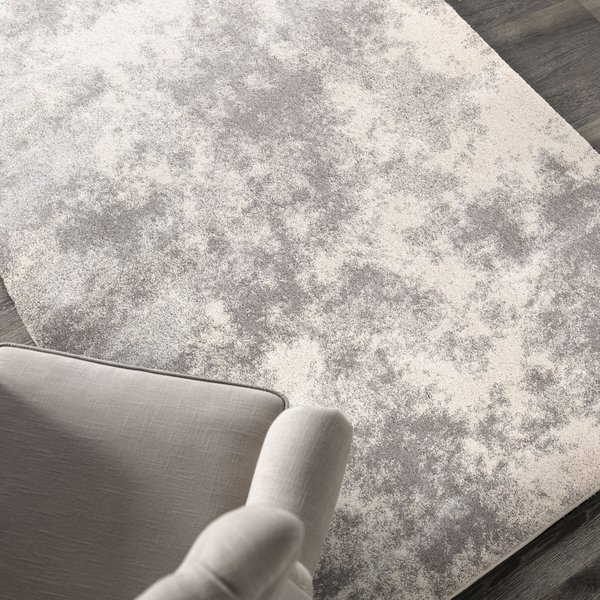 Gray, Off White (9202) Abstract Area Rug