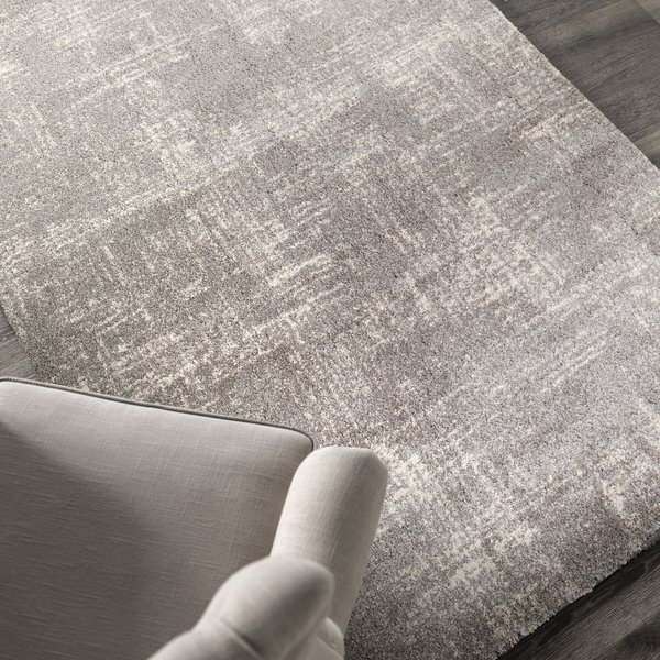 Gray, Off White (9200) Contemporary / Modern Area Rug
