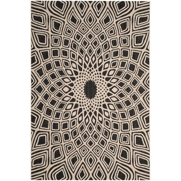 Black, Beige (25621) Contemporary / Modern Area Rug