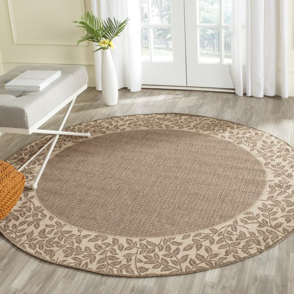 Brown, Beige (3009) Country Area Rug