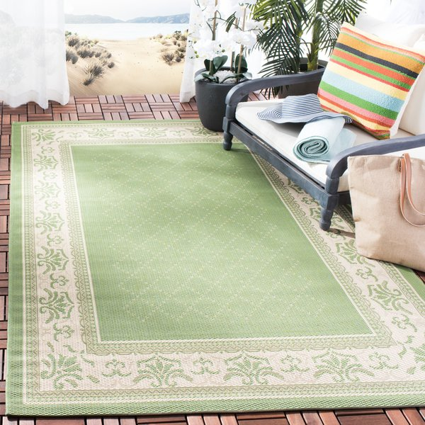Olive, Natural (1E06) Country Area Rug