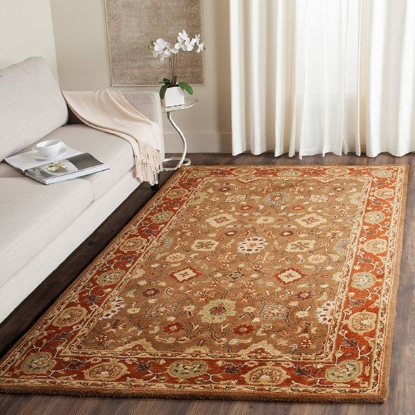 Moss, Rust (A) Traditional / Oriental Area Rug