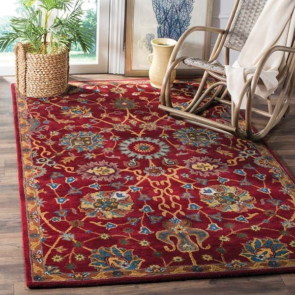 Red (A) Traditional / Oriental Area-Rugs