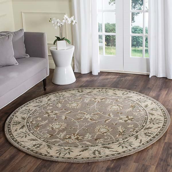 Grey, Beige (A) Traditional / Oriental Area Rug
