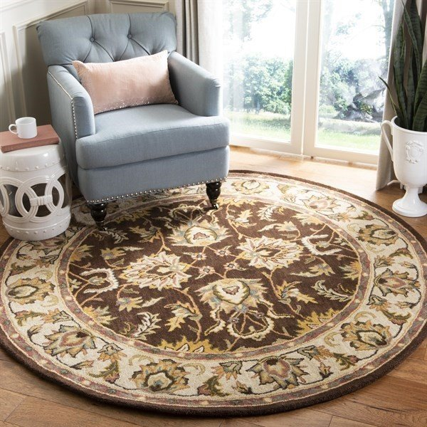 Brown, Ivory (A) Traditional / Oriental Area Rug
