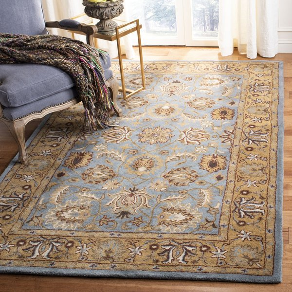 Blue, Gold (A) Traditional / Oriental Area-Rugs