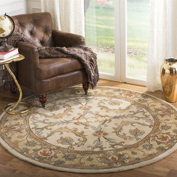 Beige, Gold (A) Traditional / Oriental Area Rug