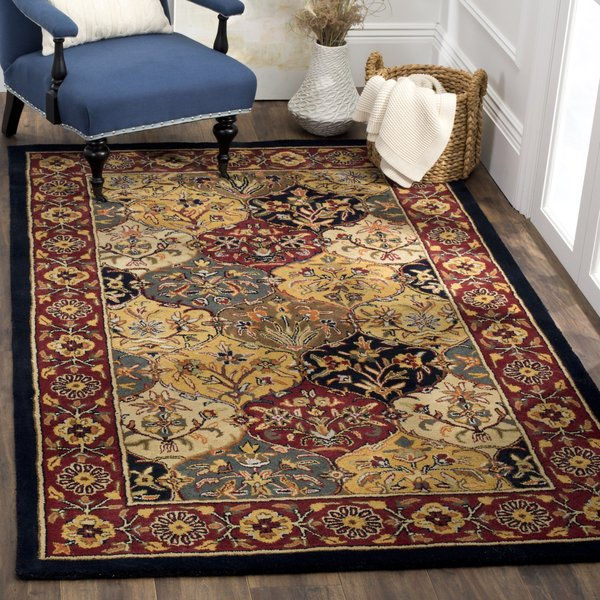 Cream, Navy (A) Traditional / Oriental Area-Rugs