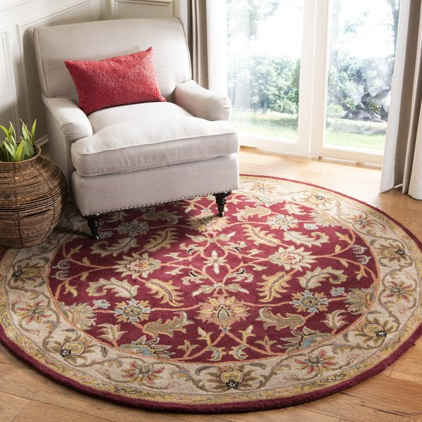 Red, Ivory (D) Traditional / Oriental Area Rug