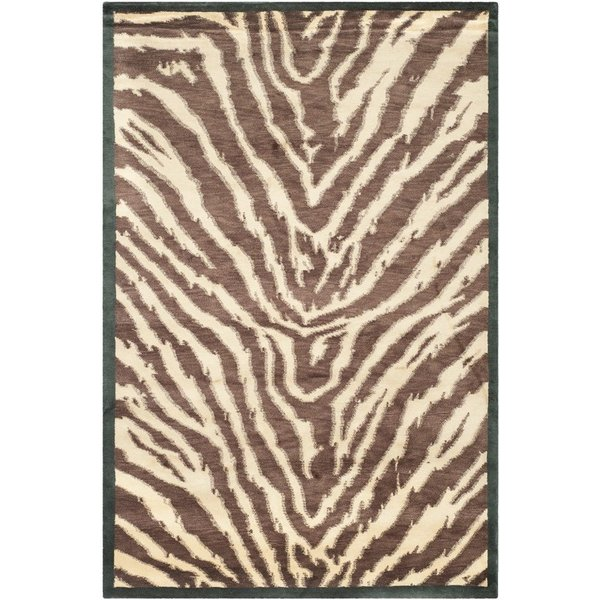 Black, Ivory (A) Contemporary / Modern Area Rug