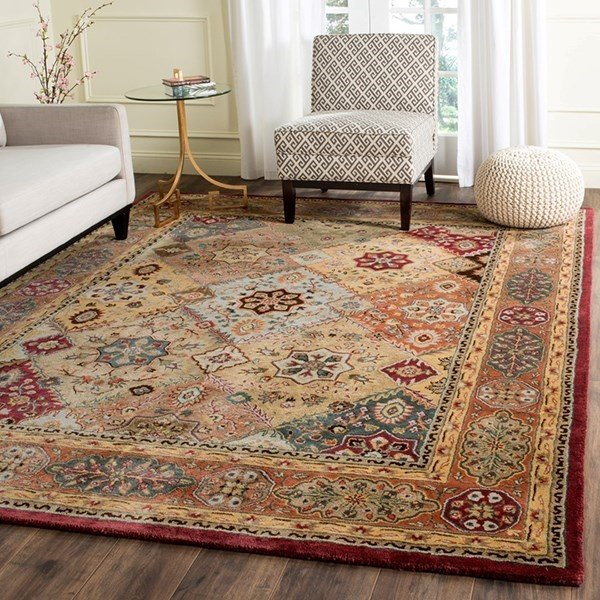 Red, Rust (A) Traditional / Oriental Area Rug