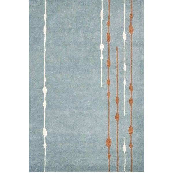 Blue (B) Contemporary / Modern Area-Rugs