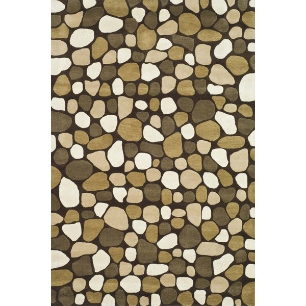 Dark Brown (A) Abstract Area Rug