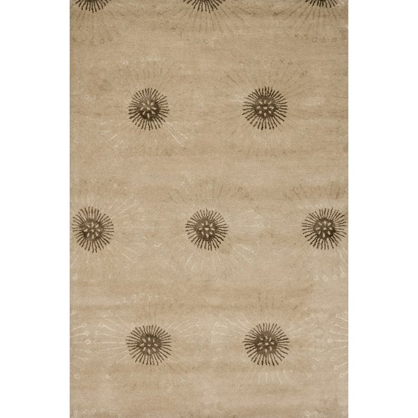 Beige, Brown (A) Contemporary / Modern Area-Rugs