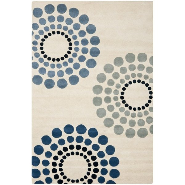 Ivory (A) Contemporary / Modern Area Rug