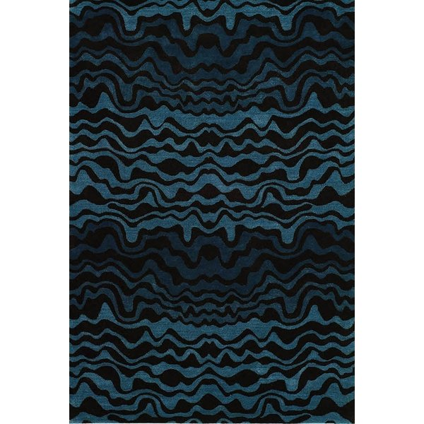 Blue, Brown (B) Contemporary / Modern Area Rug