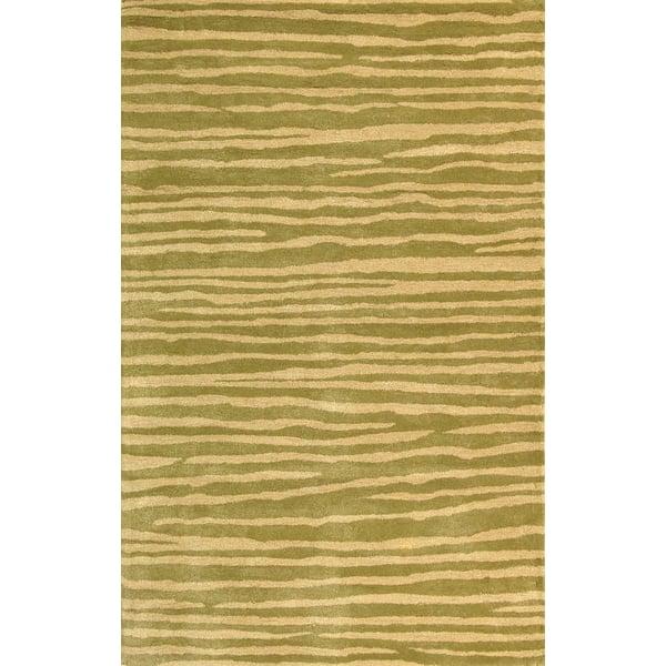 Green, Ivory (B) Bohemian Area Rug
