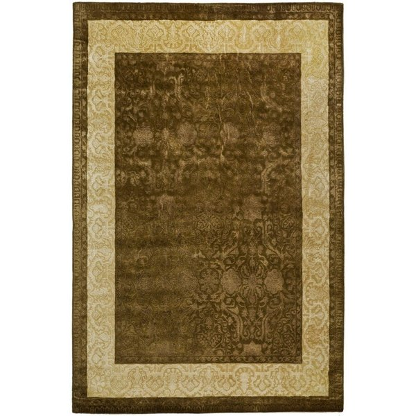 Chocolate, Light Gold (A) Traditional / Oriental Area Rug