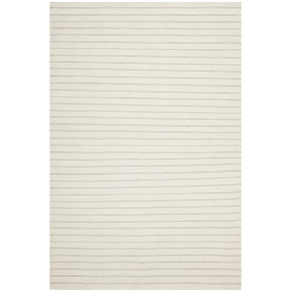 White (D) Striped Area-Rugs