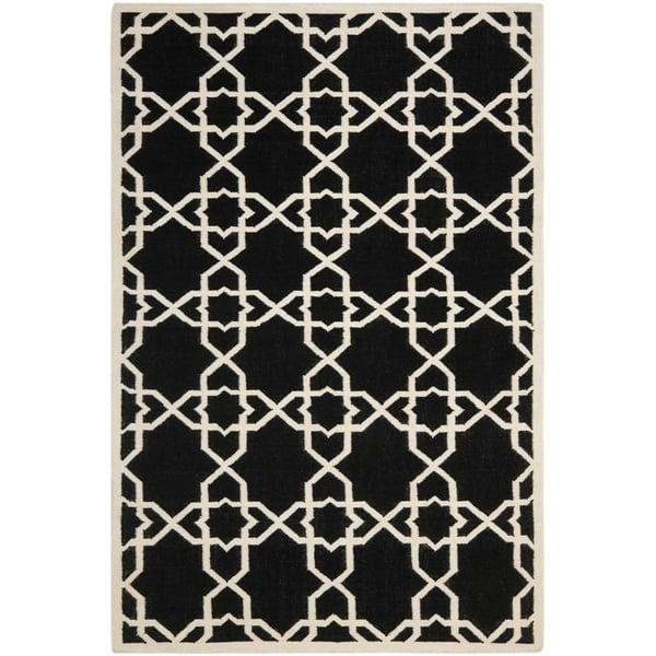 Black, Ivory (L) Contemporary / Modern Area Rug