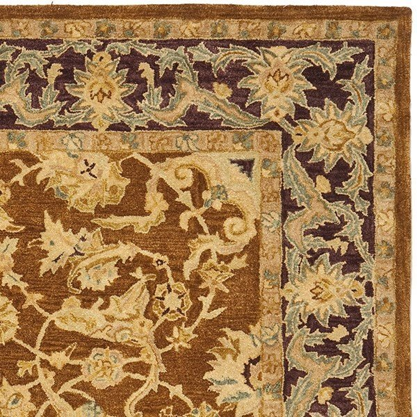 Rust, Brown (A) Traditional / Oriental Area Rug