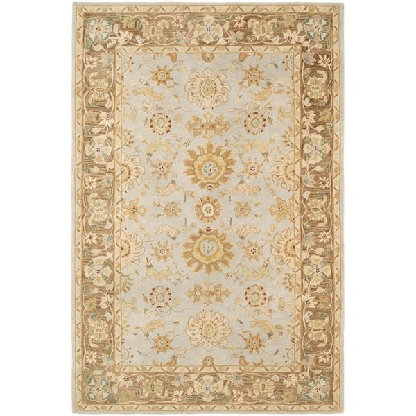 Teal, Brown (A) Traditional / Oriental Area Rug