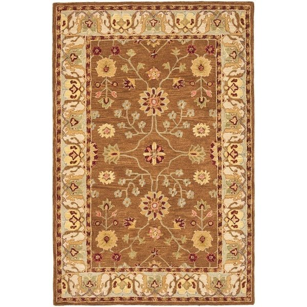 Tan, Ivory (B) Traditional / Oriental Area Rug