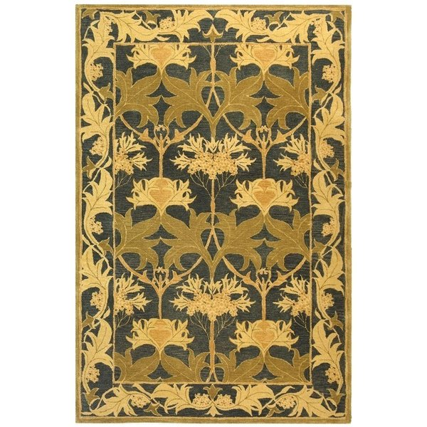 Navy, Sage (A) Traditional / Oriental Area Rug