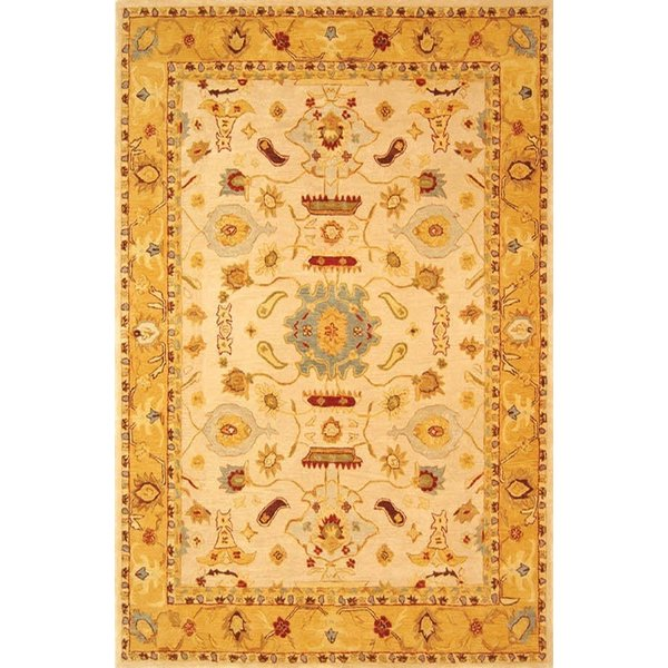 Ivory, Gold (C) Traditional / Oriental Area-Rugs