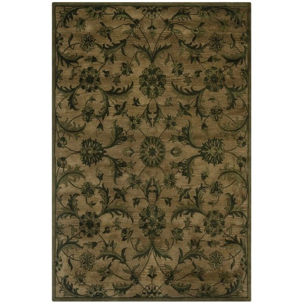 Olive, Green (A) Traditional / Oriental Area Rug