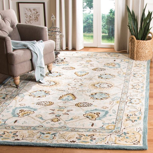Peacock, Blue (B) Traditional / Oriental Area-Rugs