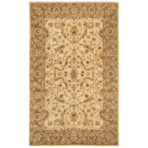 Ivory, Brown (C) Traditional / Oriental Area Rug