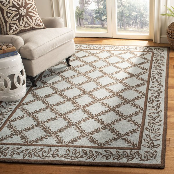 Blue, Brown (J) Traditional / Oriental Area Rug