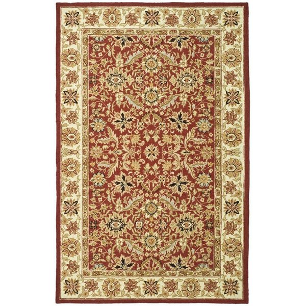 Red, Ivory (A) Traditional / Oriental Area-Rugs
