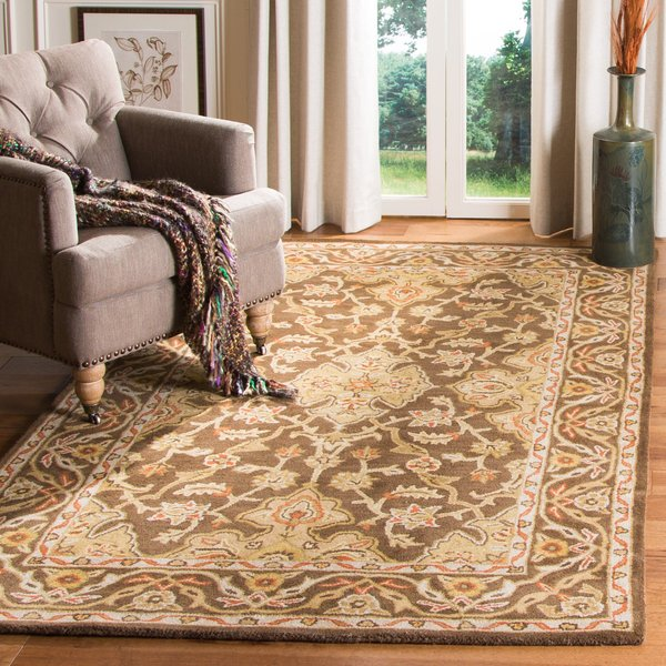 Brown, Brown (A) Traditional / Oriental Area Rug