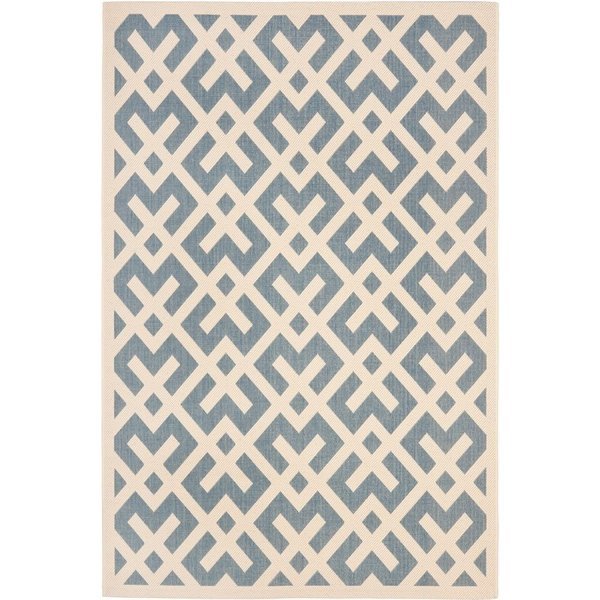 Blue, Bone (233) Contemporary / Modern Area Rug