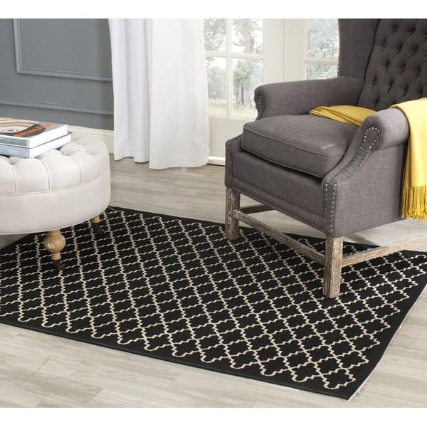 Black, Beige (226) Contemporary / Modern Area-Rugs