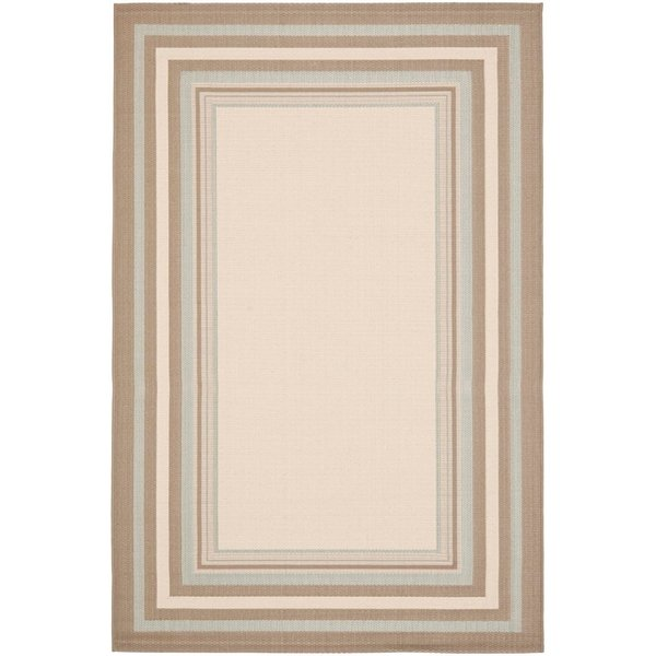 Beige, Blue (79A18) Contemporary / Modern Area Rug
