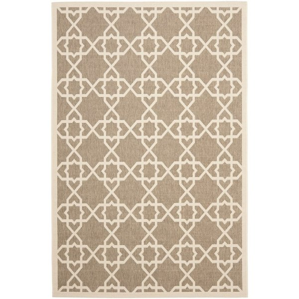 Brown, Beige (242) Contemporary / Modern Area Rug