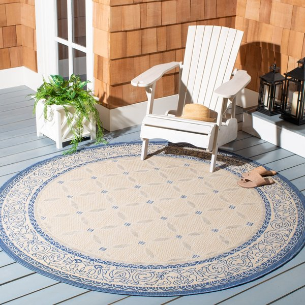 Natural, Blue (3101) Contemporary / Modern Area-Rugs