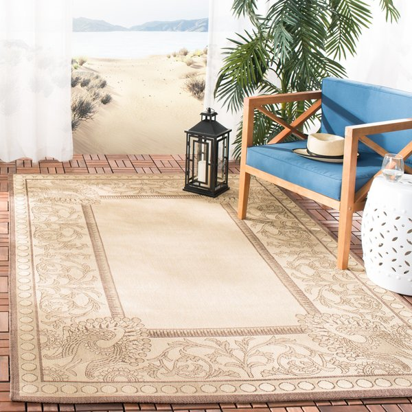 Natural, Chocolate (3401) Contemporary / Modern Area-Rugs