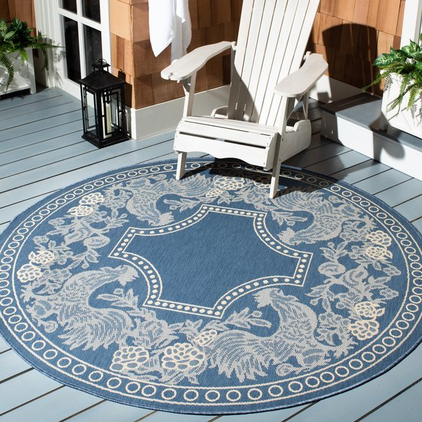 Blue, Natural (3103) Country Area Rug