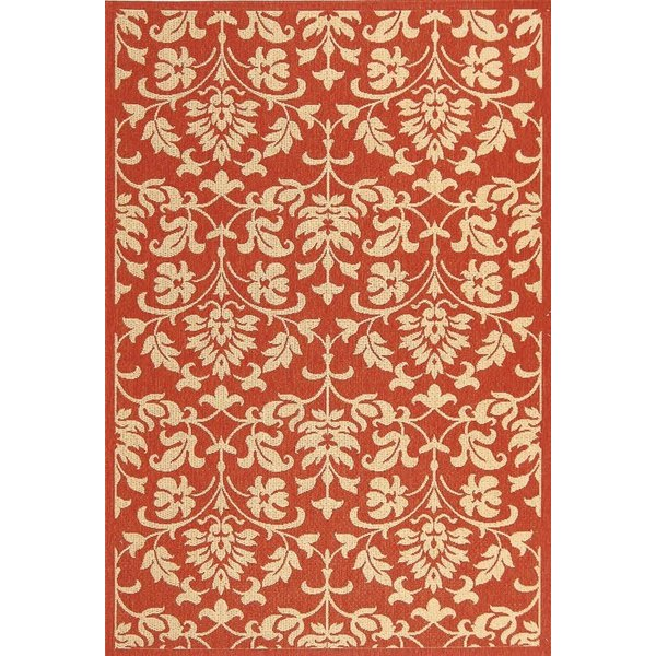 Red, Natural (3707) Contemporary / Modern Area Rug