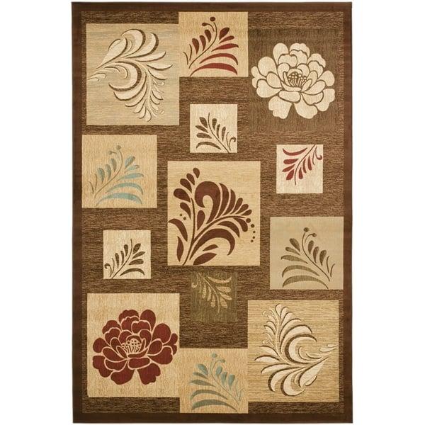 Brown (2591) Floral / Botanical Area Rug