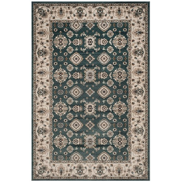 Teal, Cream (T) Traditional / Oriental Area-Rugs